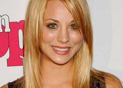 blondes, women, celebrity, Kaley Cuoco - related desktop wallpaper