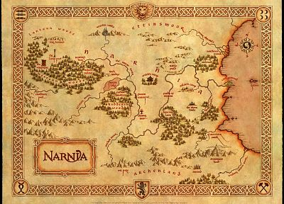 maps, chronicles of Narnia - desktop wallpaper