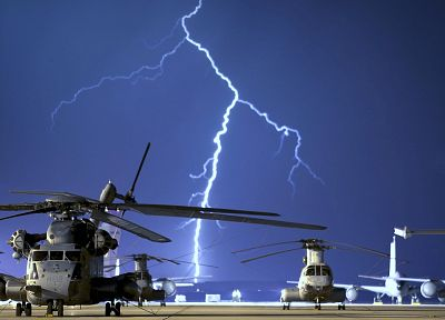 helicopters, vehicles, lightning - random desktop wallpaper