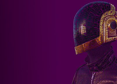 music, Daft Punk, typography, music bands, typographic portrait - desktop wallpaper