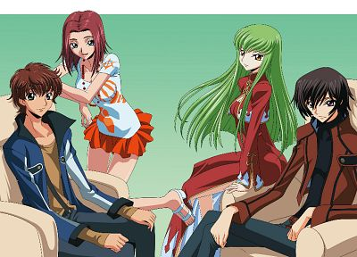 Code Geass, Kururugi Suzaku, Stadtfeld Kallen, Lamperouge Lelouch, C.C. - related desktop wallpaper