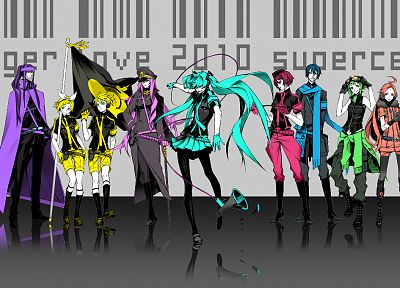 Vocaloid, Hatsune Miku, Megurine Luka, groups, Kaito (Vocaloid), Kagamine Rin, Kagamine Len, Love is War, Megpoid Gumi, SF-A2 Miki, Meiko, Kamui Gakupo - related desktop wallpaper