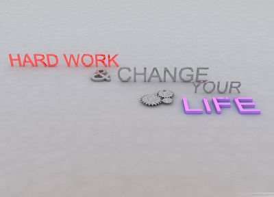 work, text, typography, 3D, motivation - desktop wallpaper