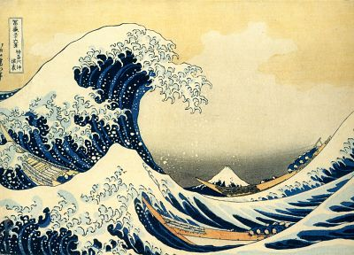 The Great Wave off Kanagawa, Katsushika Hokusai, Thirty-six Views of Mount Fuji - random desktop wallpaper