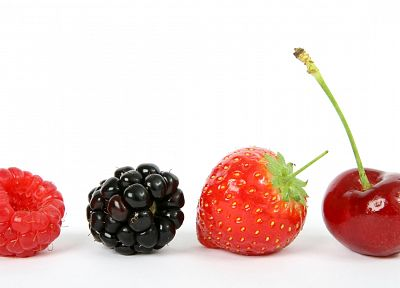 fruits, white background - random desktop wallpaper