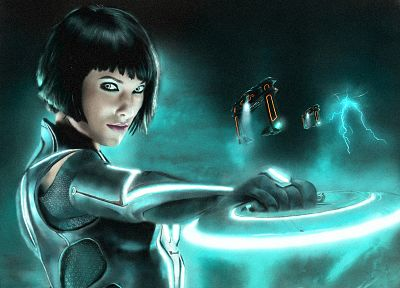 women, actress, Olivia Wilde, Tron, Tron Legacy, Quorra - random desktop wallpaper