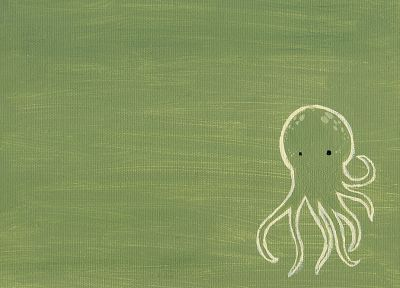 paintings, octopuses, cartoonish - desktop wallpaper