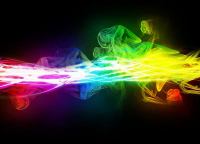 smoke, rainbows - random desktop wallpaper