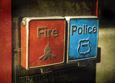 fire, police, emergency - desktop wallpaper