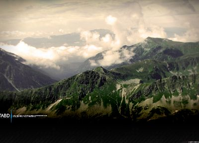 mountains, clouds, landscapes - desktop wallpaper