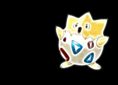 Pokemon, Togepi, simple background, black background - random desktop wallpaper