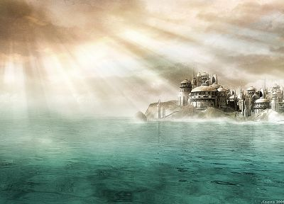 water, cityscapes, architecture, Stargate SG-1, cities - desktop wallpaper