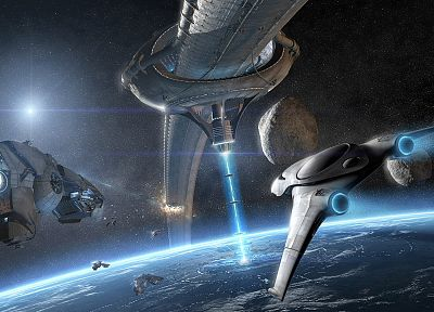 explosions, spaceships, space station, science fiction, vehicles - related desktop wallpaper