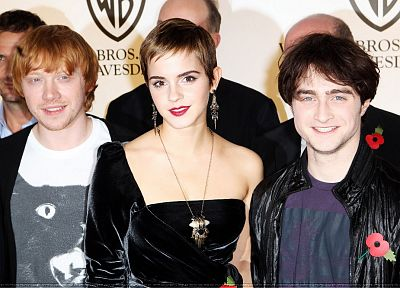 Emma Watson, Harry Potter, red carpet, actors, Daniel Radcliffe, Rupert Grint, cast, premier - desktop wallpaper