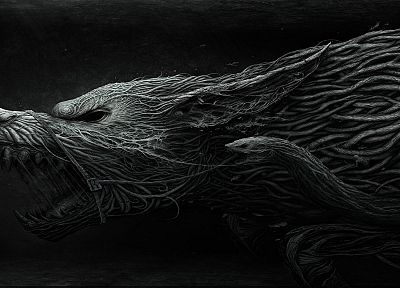 artwork, wolves - random desktop wallpaper