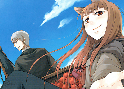 Spice and Wolf, visual novels, Craft Lawrence, Holo The Wise Wolf, apples - random desktop wallpaper
