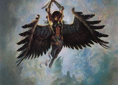 wings, Magic: The Gathering, fantasy art, Todd Lockwood - related desktop wallpaper