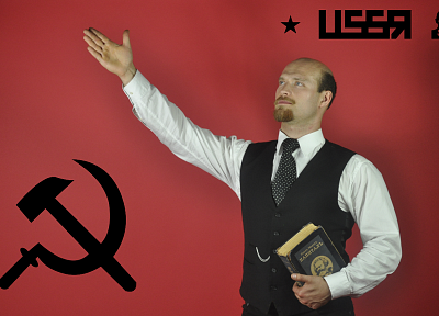 cosplay, men, Lenin, USSR - desktop wallpaper