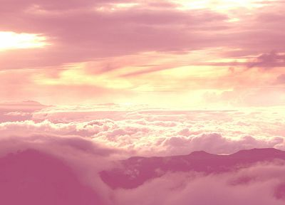 clouds, pink, skyscapes - random desktop wallpaper
