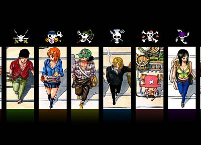 One Piece (anime), Nico Robin, pirates, Roronoa Zoro, chopper, straw hat, Monkey D Luffy, Nami (One Piece), Sanji (One Piece), Ussop - related desktop wallpaper