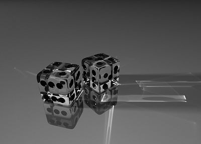 glass, dice, glass art - random desktop wallpaper