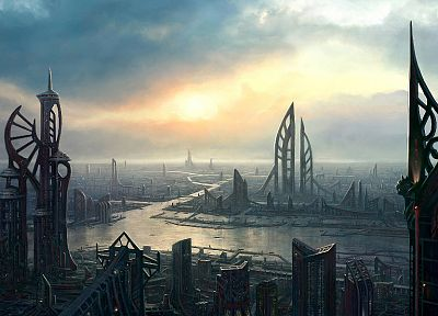 cityscapes, buildings, artwork - related desktop wallpaper