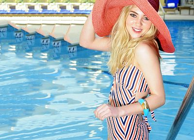 women, AnnaSophia Robb, actress, bridges, Charlie And The Chocolate Factory, swimming pools - related desktop wallpaper