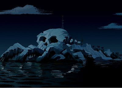 skulls, The Venture Bros., islands, satellite dish - random desktop wallpaper