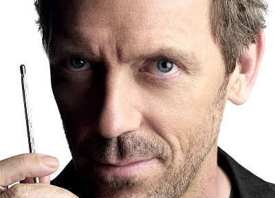 Hugh Laurie, Gregory House, faces, House M.D., white background - related desktop wallpaper