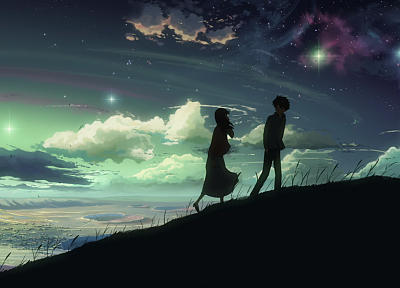 Makoto Shinkai, 5 Centimeters Per Second, skyscapes - related desktop wallpaper