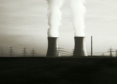 power plants, power lines, industrial plants - desktop wallpaper