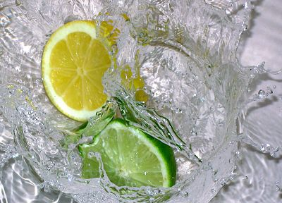 limes, lemons, splashes - random desktop wallpaper