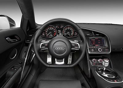 cockpit, Audi, car interiors, steering wheel, German cars - random desktop wallpaper