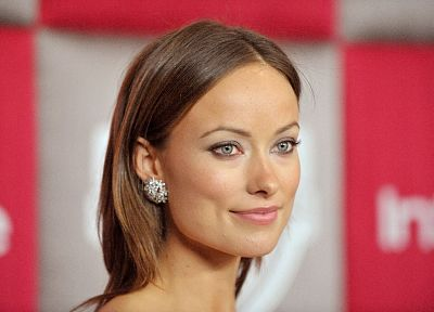 brunettes, women, models, Olivia Wilde, green eyes, earrings - random desktop wallpaper