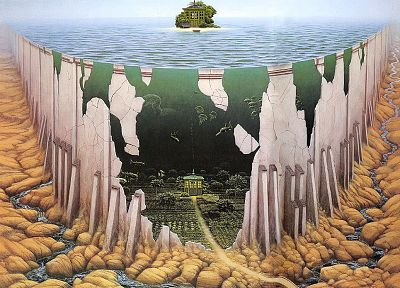 artwork, Jacek Yerka - random desktop wallpaper