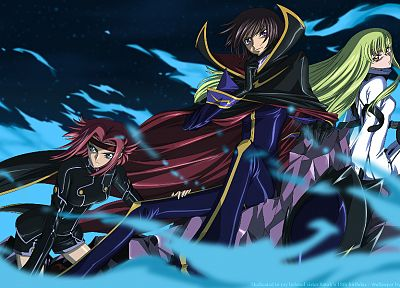 Code Geass, Stadtfeld Kallen, Lamperouge Lelouch, C.C. - desktop wallpaper