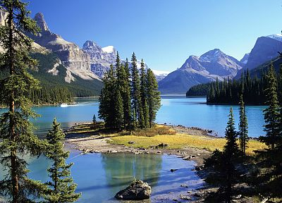 Canada, Alberta, spirit, islands, National Park - related desktop wallpaper