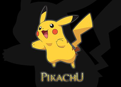 Pokemon, Pikachu, black background - desktop wallpaper