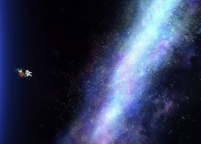 Strike Witches, outer space, Eila Ilmatar Juutilainen - random desktop wallpaper