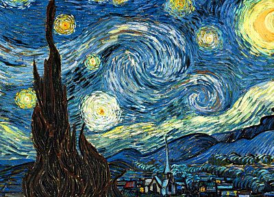 paintings, Vincent Van Gogh, Starry Night - random desktop wallpaper