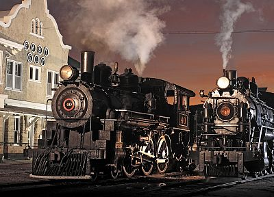 steam, trains, Nevada, museum, locomotives - random desktop wallpaper