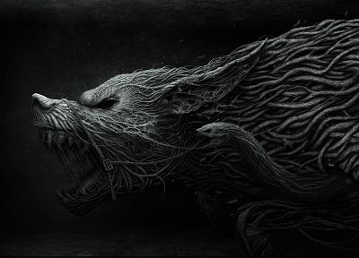 animals, snakes, muzzle, wolves, werewolves - desktop wallpaper