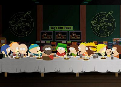 South Park, The Last Supper, Eric Cartman, Kyle Broflovski, Ike Broflovski, Butters Stotch - random desktop wallpaper