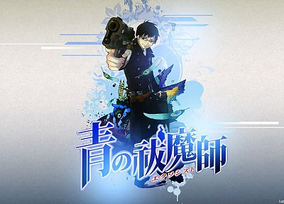 brunettes, guns, Japanese, feathers, anime, anime boys, Ao no Exorcist, Okumura Yukio - random desktop wallpaper