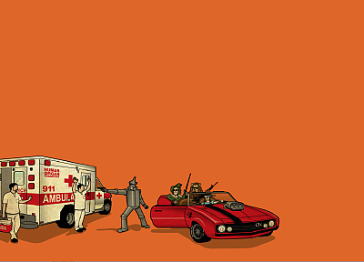 funny, The Wizard of Oz, ambulance - duplicate desktop wallpaper