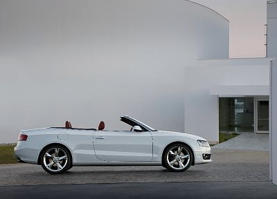 cars, Audi, vehicles, convertible, white cars, Audi A5 Cabriolet, German cars - random desktop wallpaper