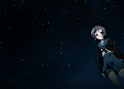 Nagato Yuki, The Melancholy of Haruhi Suzumiya, anime, anime girls - desktop wallpaper