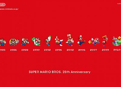 Nintendo, Mario Bros, Super Mario, Super Mario Bros., simple background - desktop wallpaper