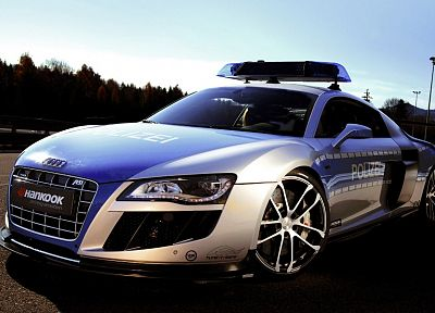 cars, police, vehicles, Audi R8 - random desktop wallpaper