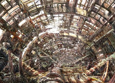 Large Hadron Collider, detailed - random desktop wallpaper